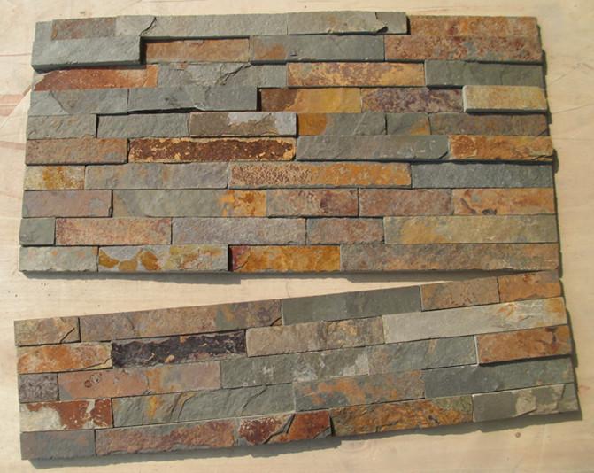 Oxidado pizarra cultura naturaleza piedras para la pared for Piedra natural para exterior