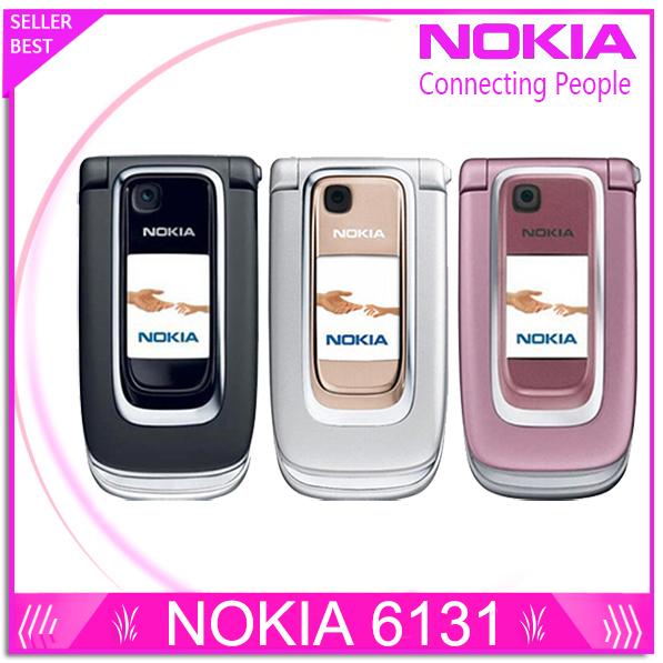 Original Nokia 6131 Filp Unlocked Mobile Phone Quad-Band Russian Keyboard Free Shipping