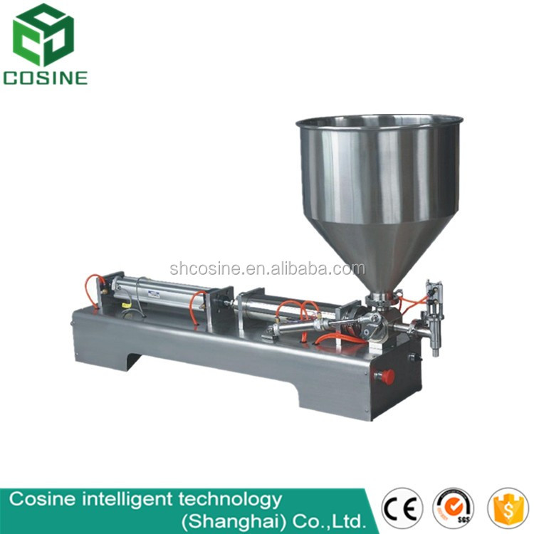 10-300ml Full Pnuematic Table Tomato Paste Fillng Machine