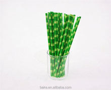 High end custom design harmless striped paper straw