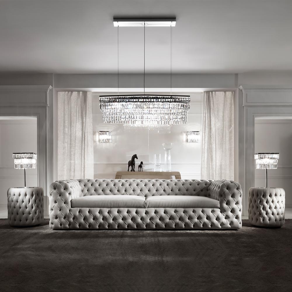 Divani In Pelle Nabuk.Modern Luxury Italiano Divano Trapuntata In Pelle Nabuk Mobili