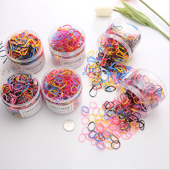 Wholesale children's tiara hair accessories disposable boxed black rubber band princess cute candy color tie hair ring