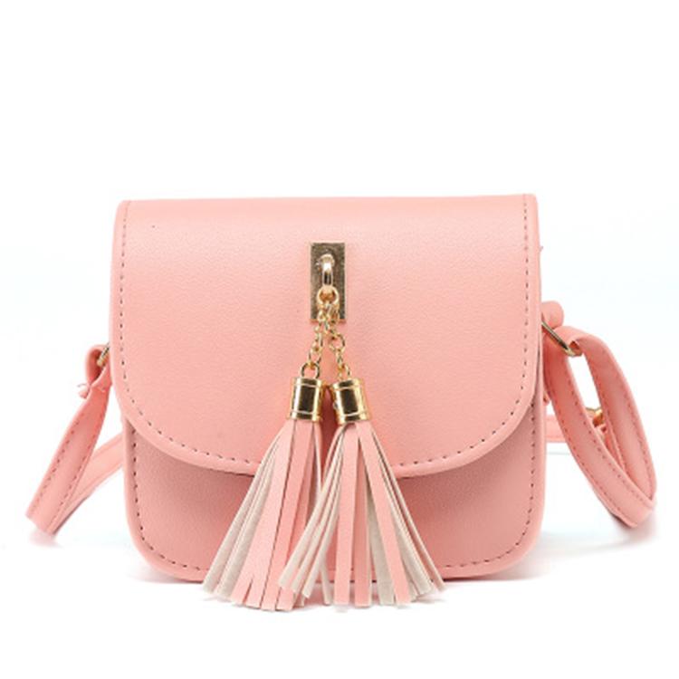 2d160f382583 Мода 2018 небольшой цепи мешок женщин конфеты цвет кисточкой сумка сумки  женские сумки сумка