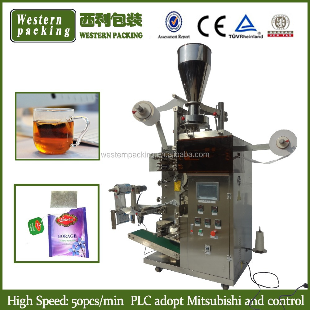 Double chamber teabag packing machine, filter tea packaging machinery