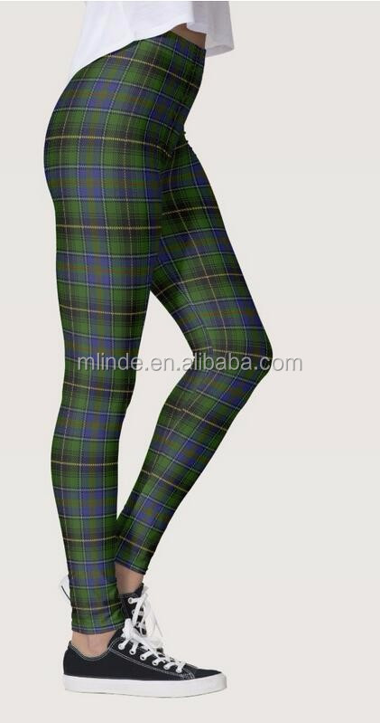 026d66edca4 Tartan Plaid Stretch Skinny Pants Green Plaid Patterned Leggings  Sublimation Leggings Plus Size