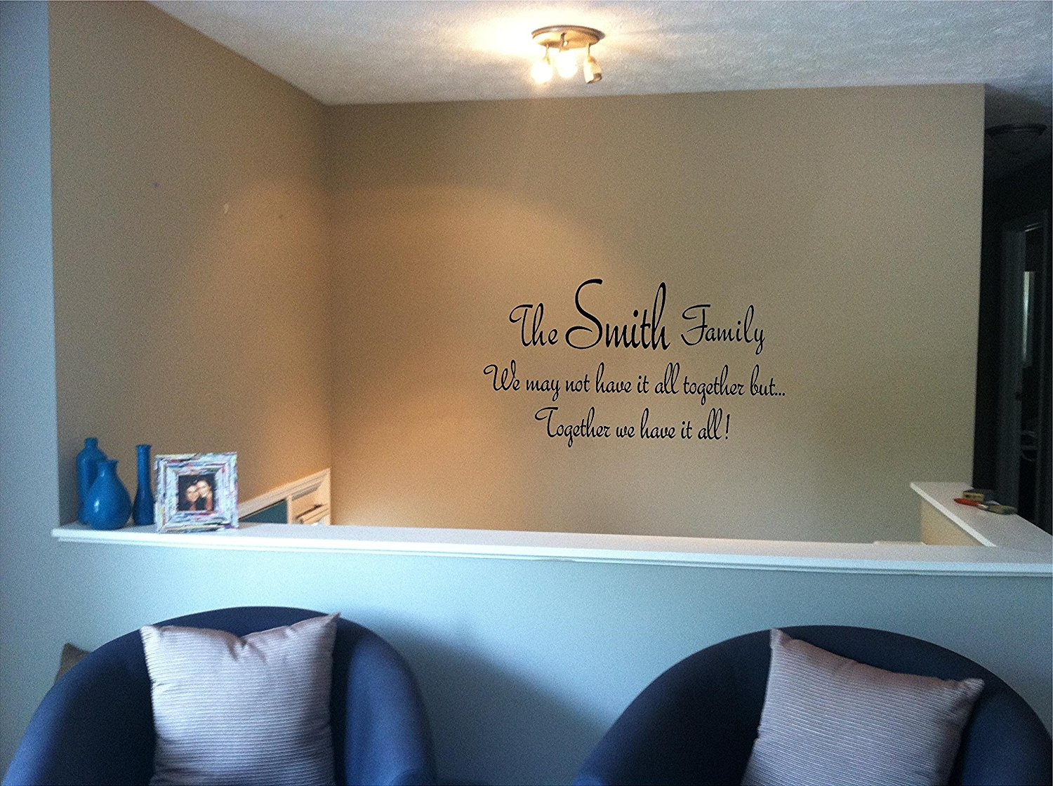 Quote It! - Family Name Together Personalized Wall Quote, Vinyl Wall Decals, Quotes, Sayings, Words, Art, Decals, Family Quotes, Family, Stickers, Home Decor, Wall Decor, Inspirational, Love