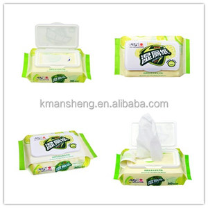 Flushable antimicrobial disposable wet wipes tissues for car clean up or toilet