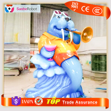 Animals zoo Attracitve customized colorful elephant model