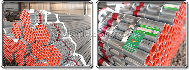 galvanized steel pipe 6 meter/weight of galvanized iron tube