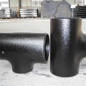 A234 WPB Pipe Tube Tee Carbon Steel Pipe Fitting BW Seamless Equal Tee Union