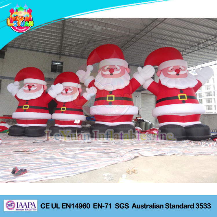 Giant inflatable Christmas Santa / inflatable santa claus with smile eyes