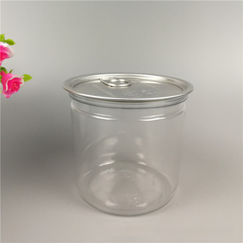Wholesale Top Canned Food Grade Plastic PET Jar With Easy Open Lid