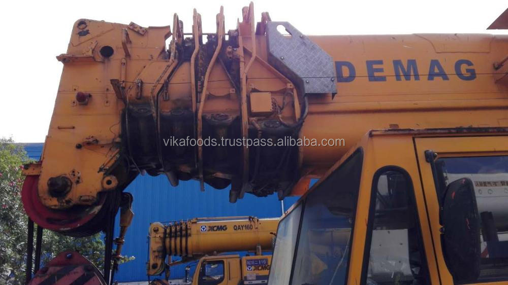 Used Demag ac435 150t truck/mobile crane Germany made with BENZ OM442LA engine sale in Shanghai