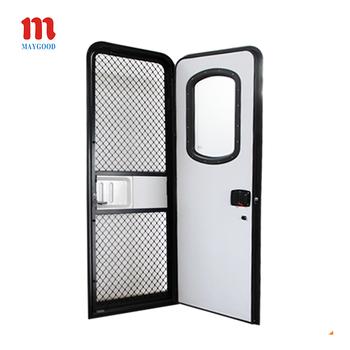 wohnwagen aluminium gute abdichtung doppelt verglaste eingangst r mit acryl schalldichte t r. Black Bedroom Furniture Sets. Home Design Ideas