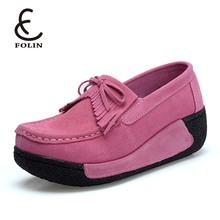 Leather Loafers ladies office shoes italian Casual Work Driving ladies shoes Women Shallow Flats ladies shoes upper