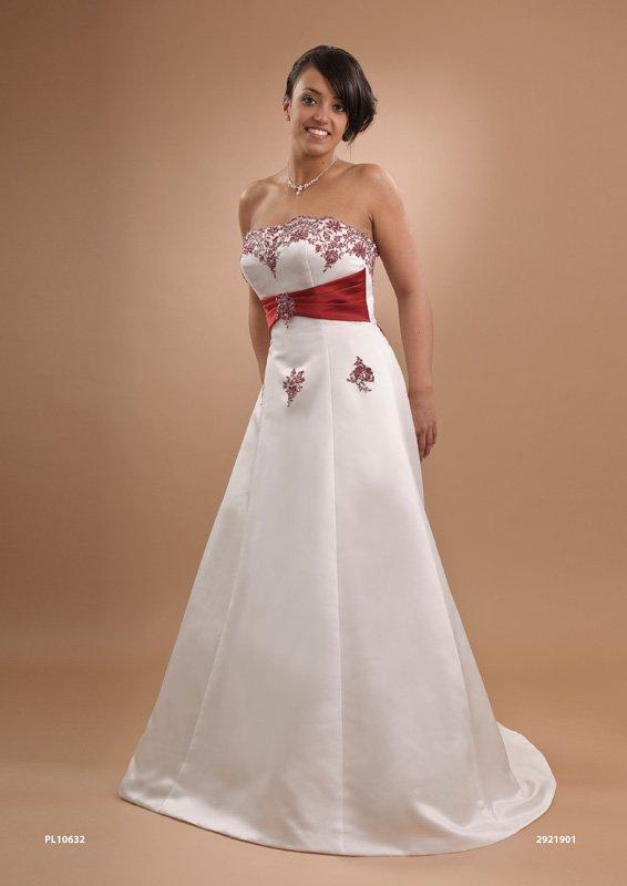 recién elegante rojo y blanco novia vestidos pl11632 - buy nuevo