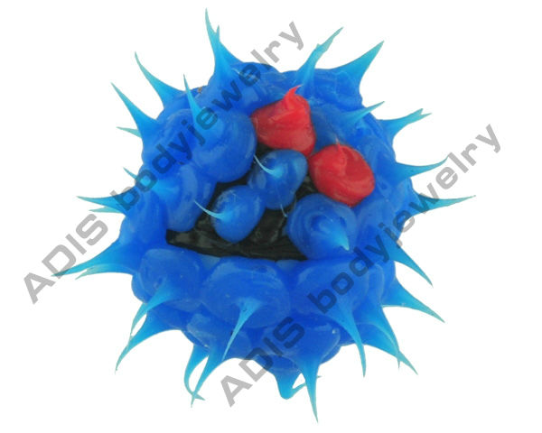 lovely silicon replacement beads for tongue jewelry barbell rings