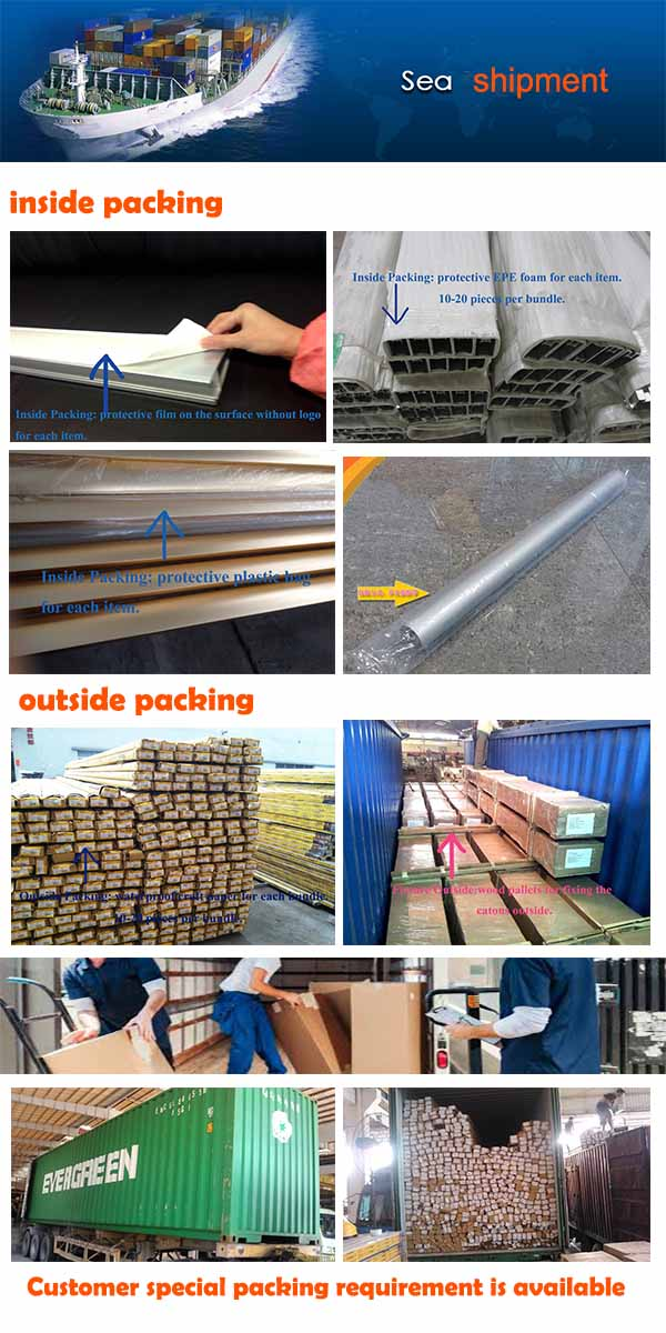 Foshan Extrusion Factory Produces Aluminum Window profile, Aluminum Door Profile for Building Construction