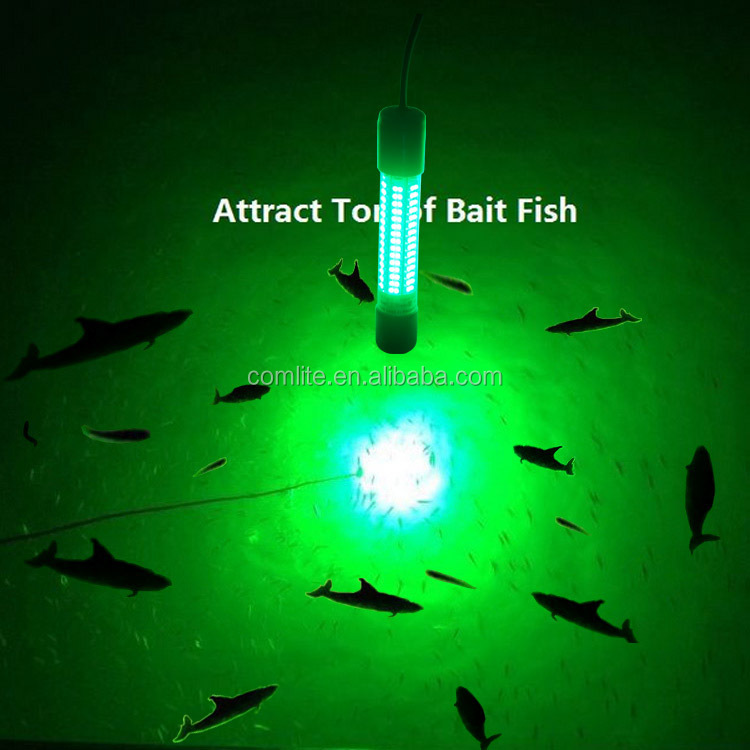 Green White Blue Color submersiable Underwater Fishing LED Light 8W to 1000W for deep sea 100m to Attract Fish light