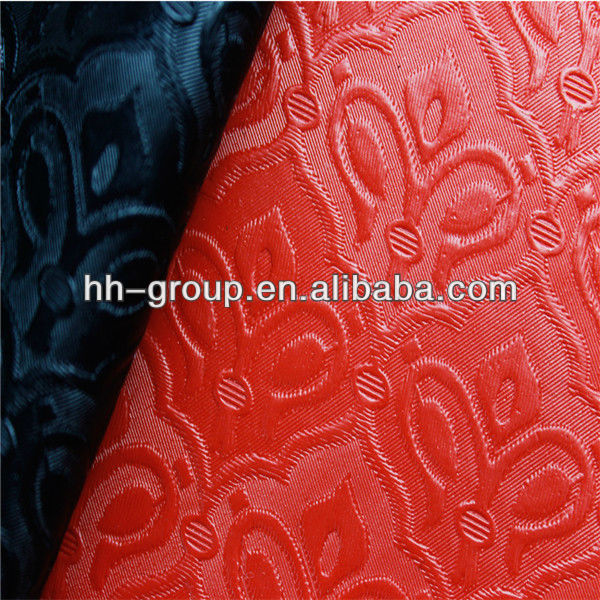 Luxurious Crown Pattern High Quality PVC Decorative Leather Fabric