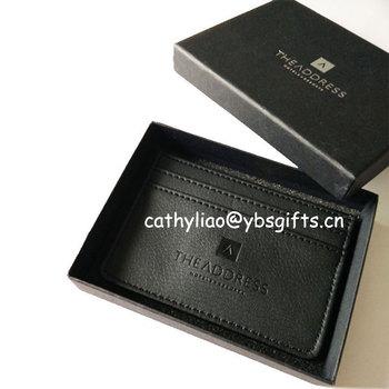 bcac6be5b8dd0a Porcellana fabbricante fabbrica porta carte di credito in pelle  personalizzati confezionato con giftbox