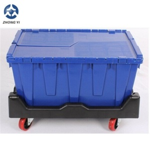 Plastic moving crates