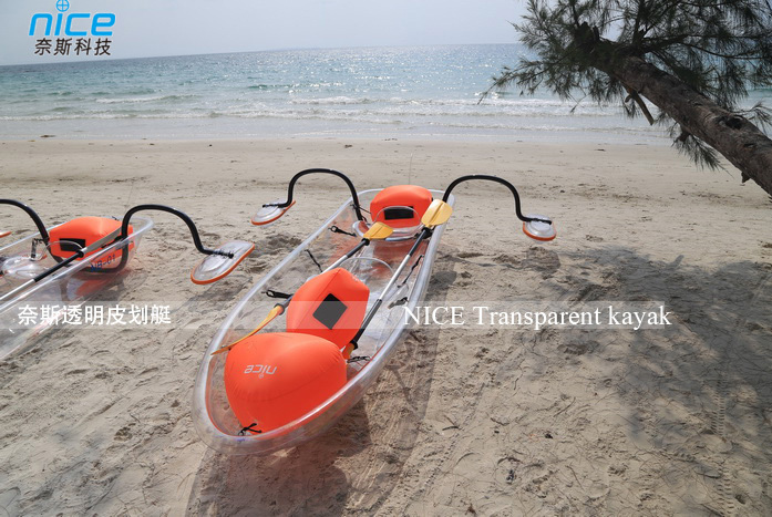 Transparent Plastic Boat Kayak Canoe With Outrigger - Buy