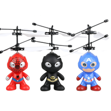 Superhero Flying Astronaut Spider-Man Helicopter Toy Flying Batman Toy Captain America Airplane Man flying toy