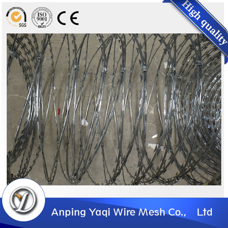 industry leader protective electric galvanized concertina razor wire