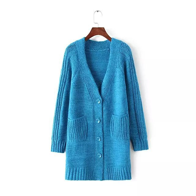 bff10fe4d6360 Get Quotations · 2015 autumn new Korean wild twist V-neck knit cardigan  sweater female loose long coat