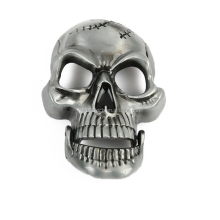 Wholesale custom made 2D/3D skull belt buckle in zinc alloy