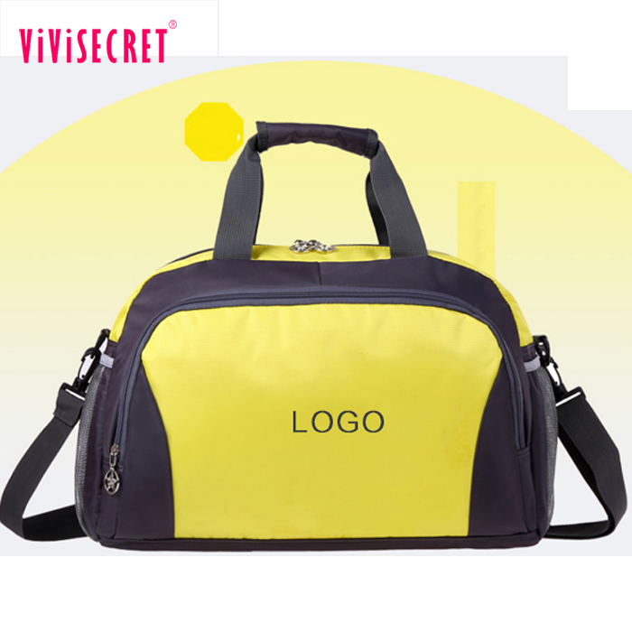 Promotional polyester sports duffle bags custom designer football sports bag  cylinder gym bag 0ec0746445