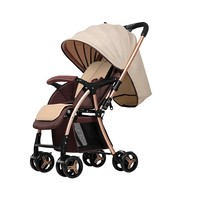Easy and quick to assemble or fold high landscape baby stroller pram