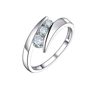 Wholesale sterling silver ring mountings 925 silver china cz rings
