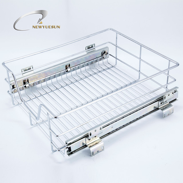 Kitchen Accessories Cabinet Drawers Chrome Plated Iron Pull Out Wire  Baskets - Buy Pull Out Basket,Kitchen Cabinet Basket,Kitchen Pull Out  Drawer ...