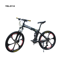 Mountain Bike 20/24/26 Inch Carbon Steel Frame Folding Bikes 21 Speed Variable Speed Bicycle Double Shock Absorber Brakes Mounta