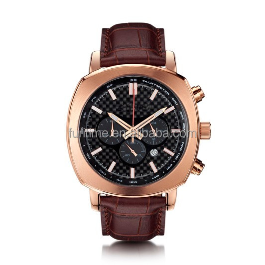 Custom logo Aviation Watch chronograph Square Watches for men
