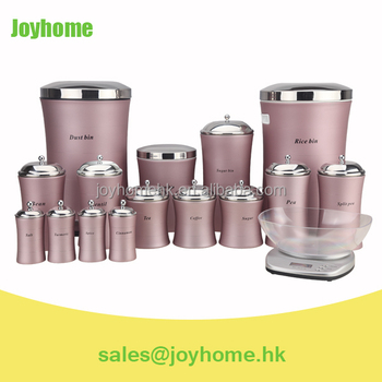Iran Dowry Service Kitchen Accessories Purple Canister Set