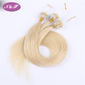 Double drawn cheap 0.5g/0.75g 100% indian virgin human hair micro ring loop hair extension top quality without any chemical