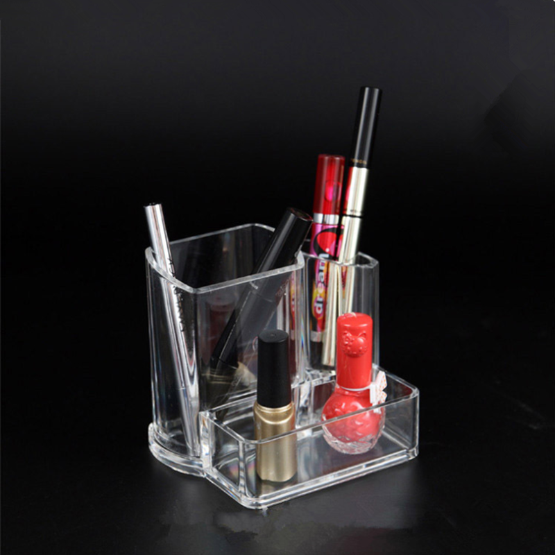 Multifunctionele kantoor tafel clear acryl cardcase plastic pen container