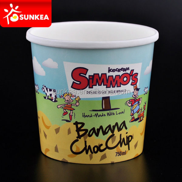 Desechables tazas de yogurt helado vasos tazas de ensalada - Vasos para yogurt ...