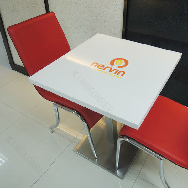 Restaurant Furniture Wall Mount Solid Surface Table Top