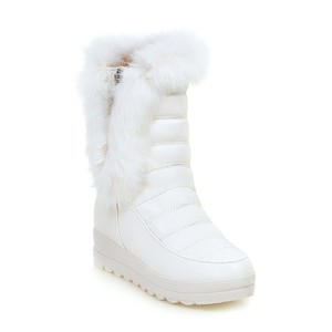 Casual Thermal Wedge Platform Winter Fur Boots Women