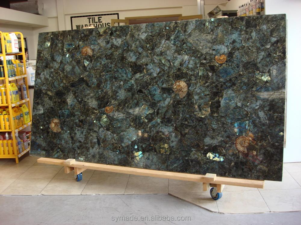 Natural Gemstone Polished Labradorite Blue Pearl Granite