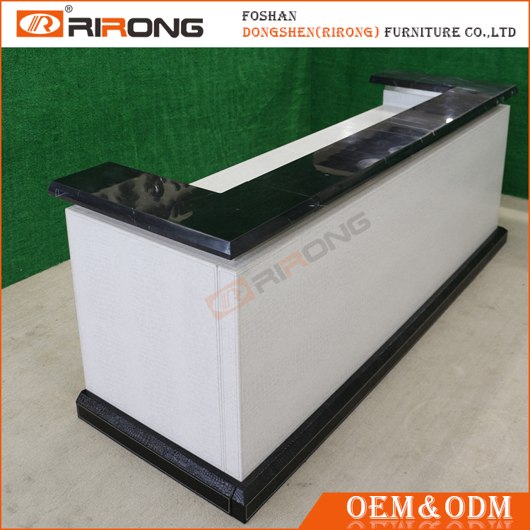 China manufacturer white modern hotel spa office reception desk for salon used