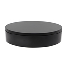 ComXim 20cm Black Random Direction Rotation Round Electric Turntable Toy Rotating Disc Photo Small Base