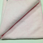Light pink microfiber terry cloth with thickness weight
