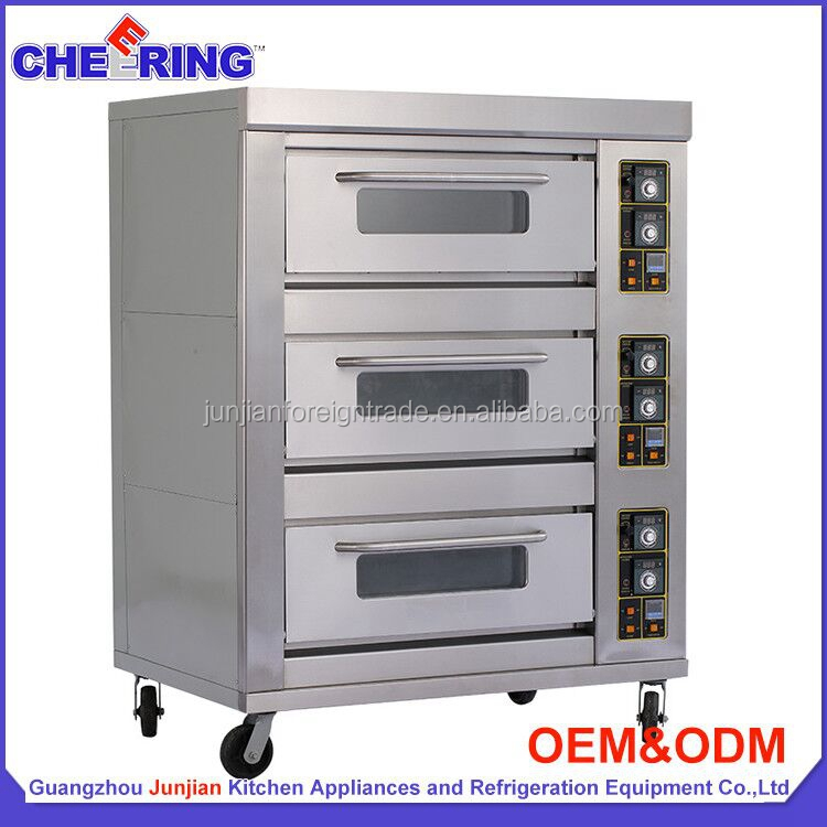 Luxury Indutrial Bakery Equipment 3 deck 9 tray gas baking bread oven competitive price G39B