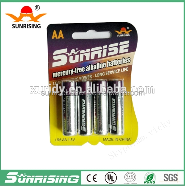 Zn/MnO2 LR03 alkaline battery 1.5V aaa alkaline battery