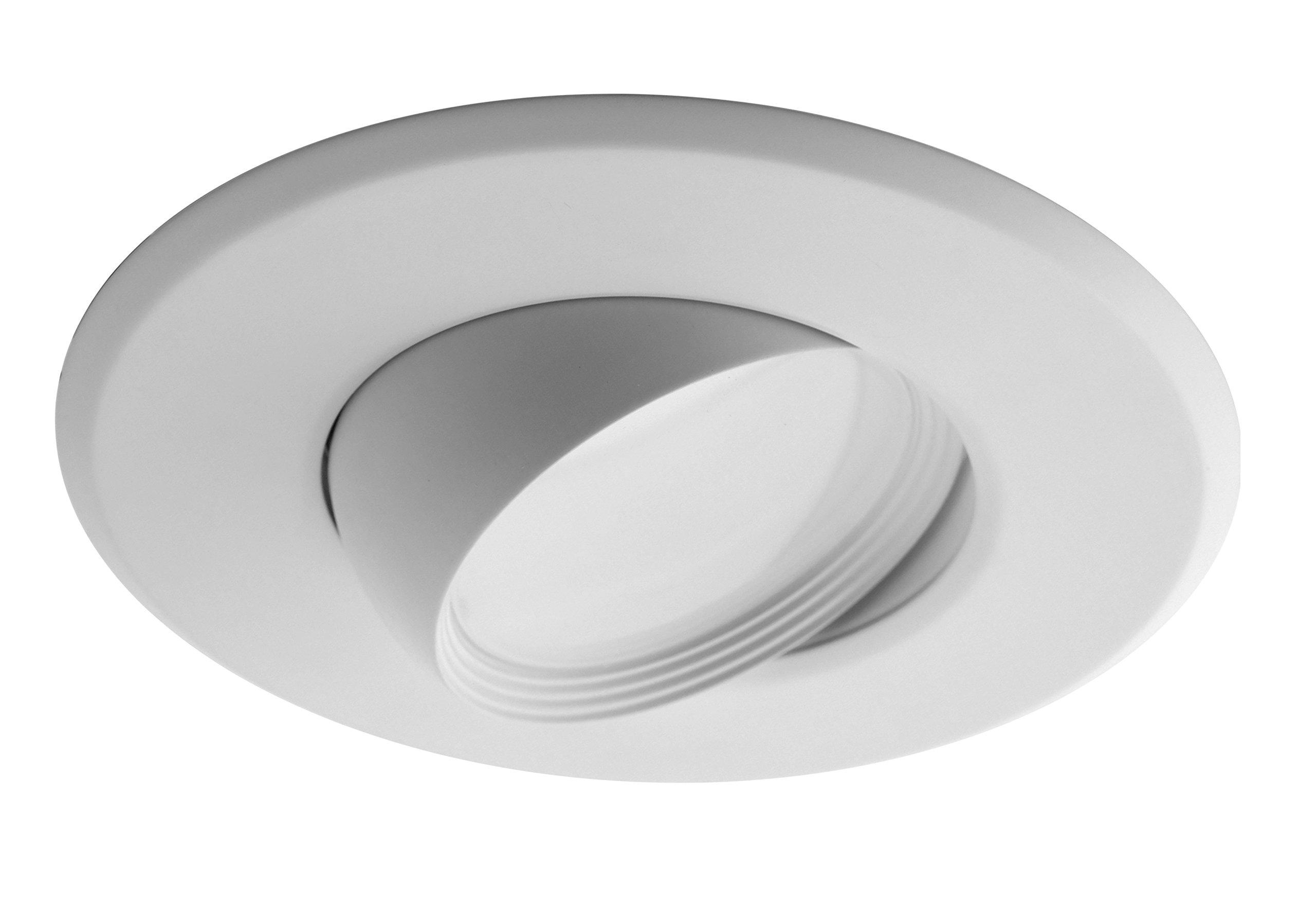 NICOR Lighting 5/6-Inch Dimmable 4000K Adjustable Eyeball LED Recessed Retrofit Downlight, White (DEB56-20-120-4K-WH)